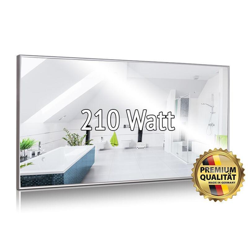 infrarotspiegelheizung 250 watt made in germany 359 00. Black Bedroom Furniture Sets. Home Design Ideas