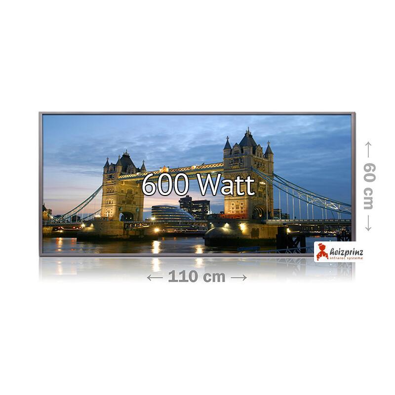 infrarotheizung glasbild mit 250 watt 769 00. Black Bedroom Furniture Sets. Home Design Ideas
