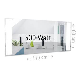 Infrarotheizung Spiegel Mit Beleuchtung | Infrarotspiegelheizung 250 Watt Made In Germany 799 00